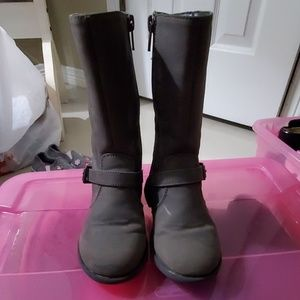 Toddler girl gray tall boots